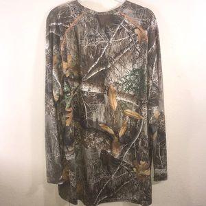 Realtree Shirts - Long sleeve Woodland Camouflage Hunting Shirt 2XL